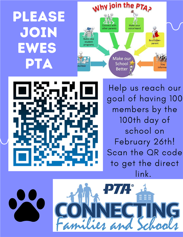 PTA 100 Member by the 100th Day of School