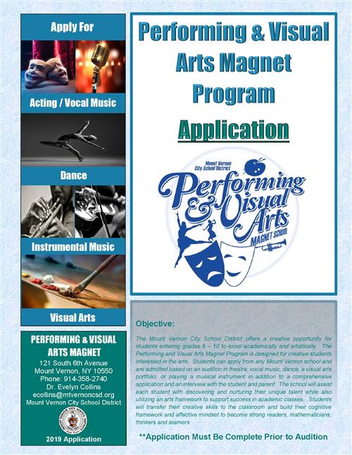 Arts Magnet Application and Audition Information