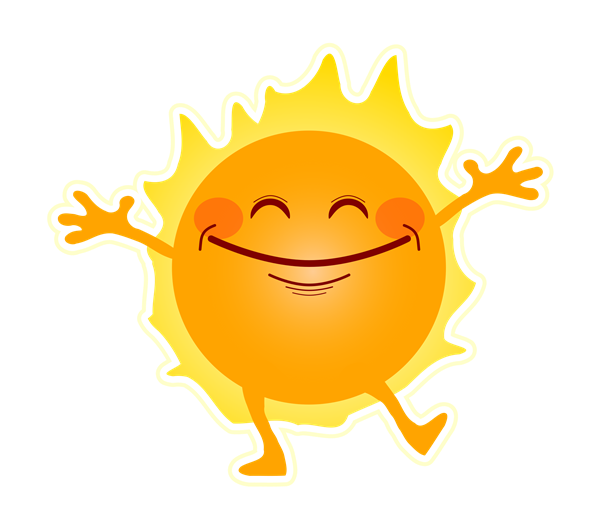 Smiling Sun with hands