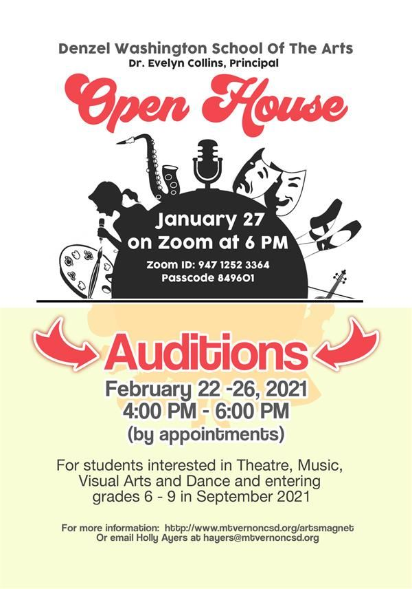 Denzel Washington School of the Arts sets dates for open house and auditions