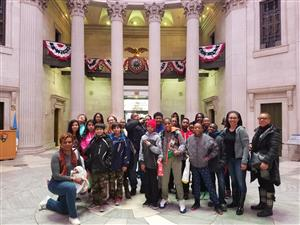 Students visit Federal Hall