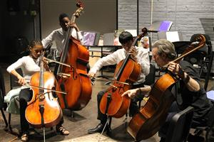 Students playing the Cello